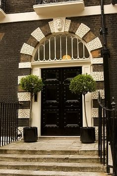 Doors can be done in cream so that they aren't garish in a residential application. Grand Entrance, Entrance Doors, Doorway, Cool Doors, Unique Doors, London Architecture, Architecture Details, Bedford Square, The Doors Of Perception
