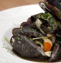 Muscheln rheinische Art - Miesmuscheln mit Weißwein und Gemüse