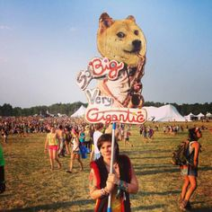 See more awesome festival totems by visiting our full gallery at theberry.com (link in image) #theberry #funnysigns #festivals #wow #doge