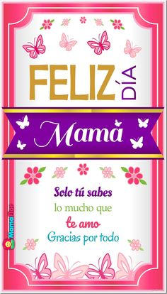 Que regalar en el Día de la Madre Creative Crafts, Diy Crafts, Birthday Cards, Happy Birthday, I Love Mom, Happy Mother S Day, Mom Day, Love Messages, Mom Quotes