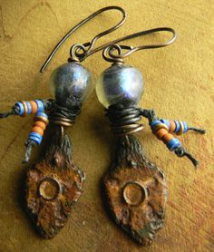 Ancient Looking Basha Earrings from Gloria Ewing.