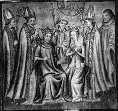 6 août 1223 Couronnement de Louis VIII le Lion et de Blanche de Castille. Il soumet et rattache la totalité du Poitou et de la Saintonge au royaume de France, mais doit compter avec la révolte des seigneurs du Languedoc.