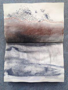 my sketchbook, conte, charcoal, pen