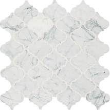 Kitchen Backsplash Accent Tile = Daltile Baroque M701 Carrara White Baroque Mosaic