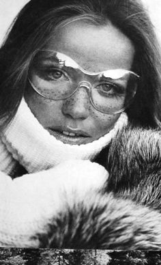 Veruschka by Franco Rubartelli, Saint Moritz Vogue Paris December '68