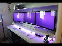 How I Built My Desk (Ikea Desk Hack) - YouTube