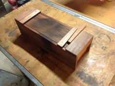 This is a clever way to add a locking mechanism to a Japanese-style toolbox. Clay Gossage was kind enough to send these photos of how he incorporated a wedge with a dovetail profile to lock the lids of boxes that he made in preparation moving his tools in place. Clay also mentioned that he could drive a screw through the wedge into the lid for added security.