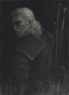 """— """"Geralt Study"""" - illustration by Sam Spratt"""