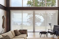 The key to dressing large windows, sliding doors and bi-folding doors is to use vertical blinds that are both practical and stylish. Vertical blinds have a reputation for looking dull and office-like but Thomas Sanderson has created a beautiful alternative for wow-factor windows: