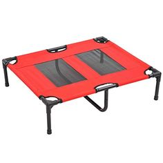 Pawhut 31 X 27 Elevated Dog Bed Pet Cot Red Want To Know More