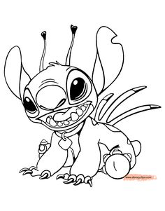Stitch Disney Character Coloring Pages Lilo and Stitch