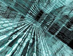 données: Arrière-plan de technologie abstraite avec code binaire