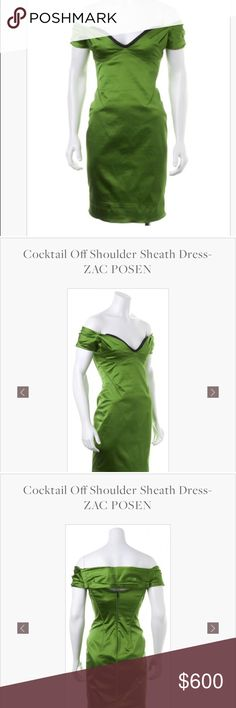 Off shoulder silk Zac Posen dress Excellent condition off shoulder zac posen dress. All offers welcome. Only trading on HauteTrader. If you want to trade there use my referral code MOLLYB697 Zac Posen Dresses Mini