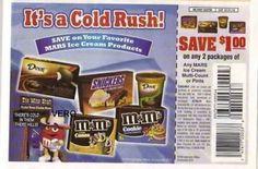 2010 magazine ad M&M's IT'S A COLD RUSH #2  mms M&M 1/2 page advertisement print