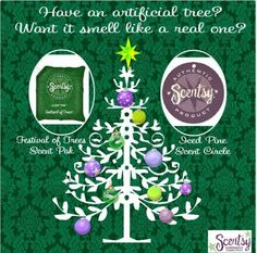 Scentsy. Cute idea for your artificial Christmas tree!  https://NOVAScents.scentsy.us/