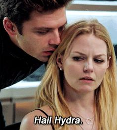 Hail Hydra! Once Upon A Time, Captain America Winter Soldier crossover! Oh my goodness I had no idea this was him. Ahh!