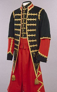 Tassels on Court Blackamoor's Uniform made from unknown material(s). Made during the late 19th Century. Originated in Saint Petersbug, Russia.