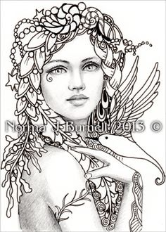 Fairy Tangles: COLOR YOUR OWN ACEO FAIRY-TANGLE PRINTS