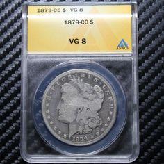 1879 CC Morgan Silver Dollar ANACS VG8 - CARSON CITY (46937) Finger Lakes Numismatics - Rare Coins And Currency