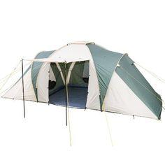 Skandika Daytona - Tente familiale - 6 personnes - 530x370 cm (Vert/Beige)