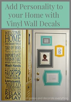 Add personality to your home with Vinyl Wall decals from Custom Vinyl Decor…