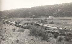 Las carreteras de Extremadura: El paso del río Almonte de la N-V. Años cuarenta.