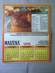 Calendário De Parede Maizena 1978. - R$ 40,00 no MercadoLivre