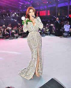Myriam Fares High Split Evening Gowns Crystal Beaded Arabic Celebrity Dresses With Deep V Neck Long Sleeves Summer Middle East Style Evening Dresses Buy Online Evening Dresses To Hire From Newfashion2014, $401.01| Dhgate.Com