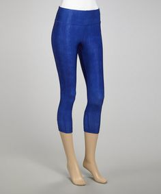 Take a look at this Periwinkle Denim Capri Pants by 90 Degree by Reflex on #zulily today!