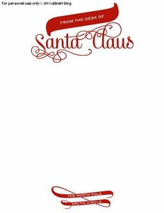 Santa Claus Letterhead Will Bring Lots Of Joy To Children