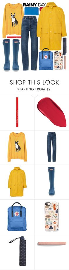 """""""it's raining"""" by foundlostme ❤ liked on Polyvore featuring Bobbi Brown Cosmetics, MANGO, Citizens of Humanity, Band of Outsiders, Hunter, Fjällräven, Casetify, L. Erickson, Adrienne Vittadini and rainyday"""