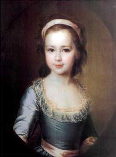 Portrait of Countess Anna Vorontsova as a Child - Dmitry Levitzky