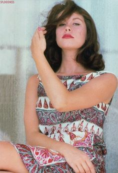 Elizabeth Montgomery looking sultry with brown hair. Year unknown.