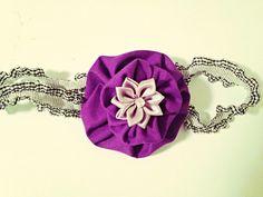 Purple and silver headband, baby headband, infant purple headband, purple and silver flower headband, toddler headband by mybearbowtique on Etsy https://www.etsy.com/listing/270834229/purple-and-silver-headband-baby-headband