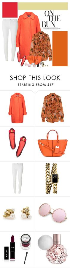 """""""Shades of Orange"""" by mandeerose ❤ liked on Polyvore featuring Moschino, J.Crew, Tory Burch, Tod's, Dorothy Perkins, Chanel and Ruth Tomlinson"""