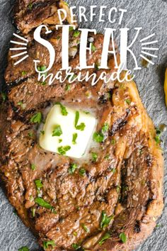 Steak Dinner Recipes, Grilling Recipes, Cooking Recipes, Steak Dinners, Steak Marinade Recipes, Grilled Steak Recipes, Grilled Chicken, Chuck Steak Recipes, Healthy Steak Recipes