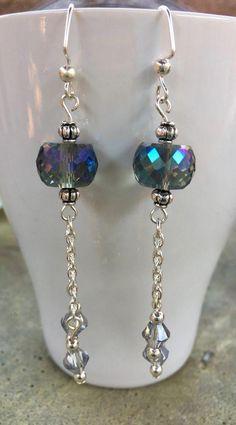 14k or Vert Calcédoine Boucles D/'oreilles Sterling Simple Cluster Seed Pearl Opal Gouttes
