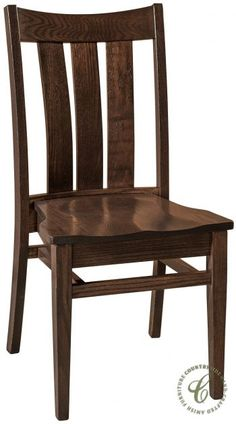 Custom made in the hardwood and finish that works best for your home or business, the Talley Stackable Dining Chair is an ingenious design in solid wood.
