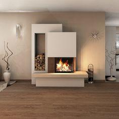 Kaminbausatz Spartherm Varia Kamin Einsatz - Sara Home Fireplace Kits, Small Fireplace, Fireplace Hearth, Fireplace Inserts, Living Room With Fireplace, Fireplace Design, Living Room Decor, Fireplaces, Decorative Fireplace