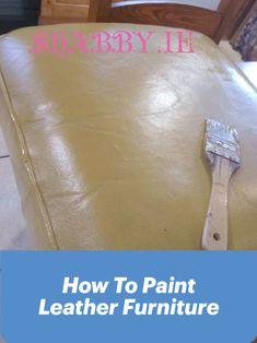 Painting A Leather Chair. How to step by step guide to giving an old chesterfield leather chair a new lease of life with Fleetwood for Furniture Paint. Painting Leather, Leather Furniture, Shabby, Tutorials, Blog, Teaching