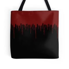 Red Drip Black Tote Bag - Available Here: http://www.redbubble.com/people/rapplatt/works/12860174-red-drip-black?p=tote-bag