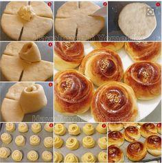 Készíts szép, formázott kelt tésztás süteményeket!