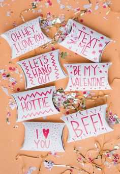 Cardboard Tube Valentine's Pockets