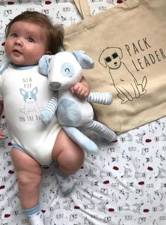 This little pup looks adorable in his bodysuit and with his pup plush from Baby Aspen. Baby Boy Gifts, Baby Shower Gifts, Baby Aspen, Sweet Memories, Holiday Photos, Little Man, Gift Baskets, Gifts For Mom, Babys