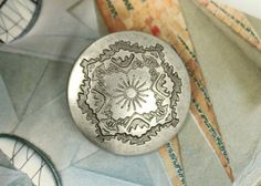Metal Buttons  Sun and Mountain Towns Metal Buttons  by Lyanwood