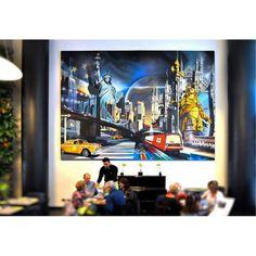 NEW YORK MENEGHINA,  ©2014, acrylic on canvas, 500 x 370 x 4 cm / 196.8 x 145.7 x 1.6 in, 18.5 metri quadrati.  #SCENOGRAPH2ART #GaeTanoAndValentina #Sem #painting #FineArt #Acrylic #Art #искусство #Ceruleo  presso PALAZZO REGIONE LOMBARDIA VIA MELCHIORRE GIOIA, 35 20124 MILANO.