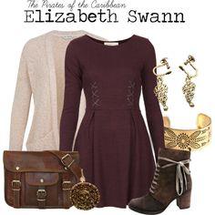 Elizabeth Swann by charlizard on Polyvore featuring Goldie, Miss Selfridge, Miz Mooz, Jens Pirate Booty, disney, movies and piratesofthecaribbean