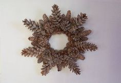 Frosty Pine Cone Natural Wreath by WestTwinCreationsLLC on Etsy,