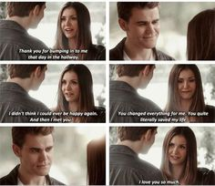 Stefan and Elena: Then i met you