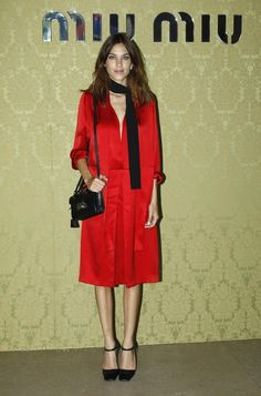 Alexa Chung in head to toe Prada at the 2015 Miu Miu Resort Collection Presentation in Paris. I don't really follow celebrity fashion, but I like this.